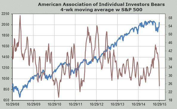 AAII bears S&P 500